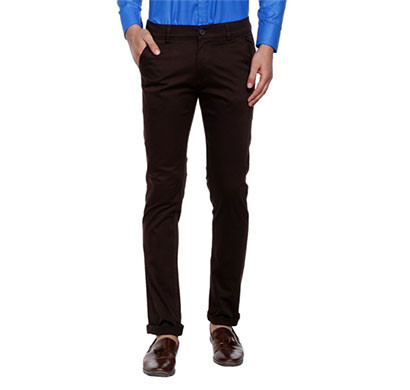shaurya-f tr-223 slim fit men black trousers
