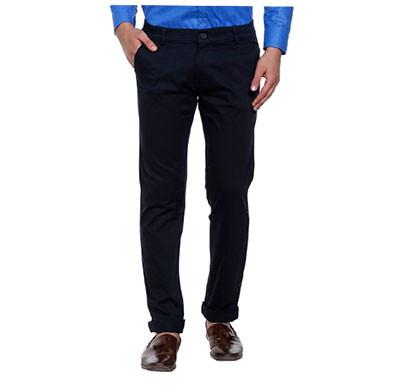 shaurya-f tr-222 slim fit men blue trousers