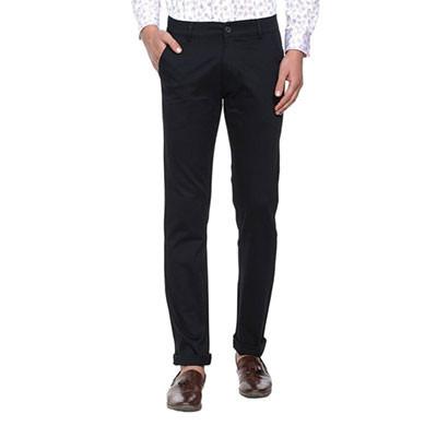 shaurya-f tr-221 slim fit men black trousers