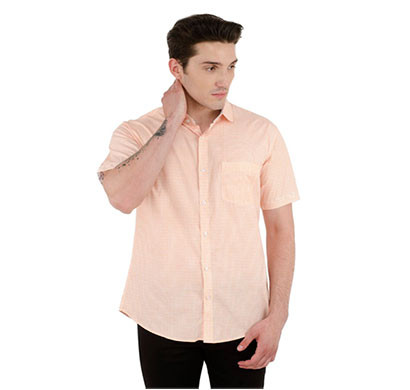 shaurya-f men's solid casual cotton shirt