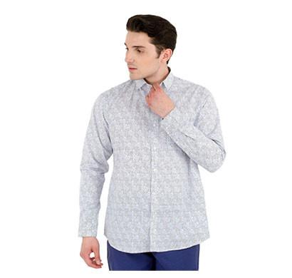 shaurya-f men solid casual full sleeve printed shirt