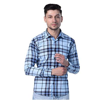 shaurya-f checks men's solid casual shirt
