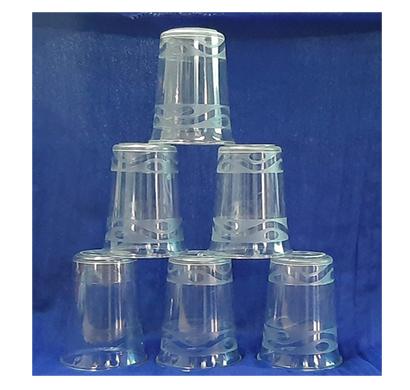 shivam plastic glass 200ml unbreakable quality