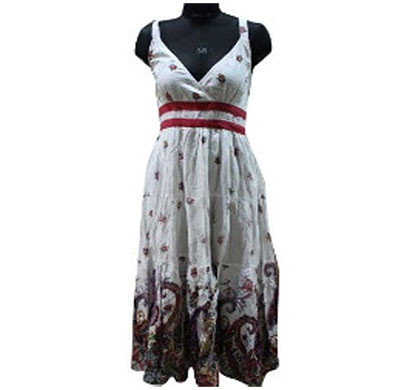 silver ladies cotton dress (white)