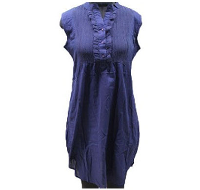 silver ladies cotton dress (navy)