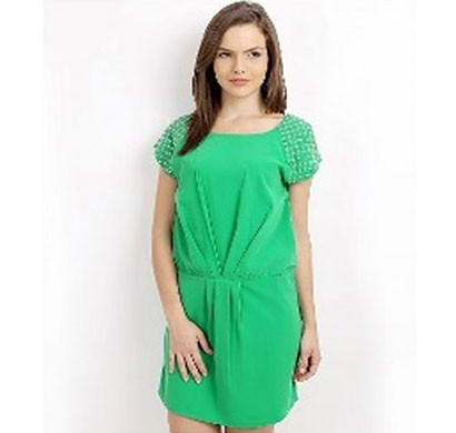 silver ladies green tunic dress (green)