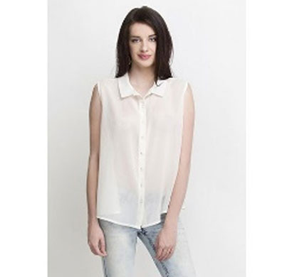 silver ladies trendy shirt (white)