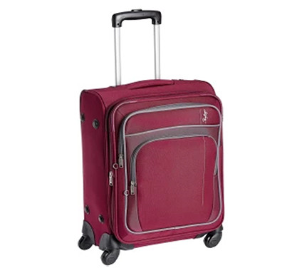 skybags (stgraw55red) grand 4w exp strolly 55 (cabin) red luggage