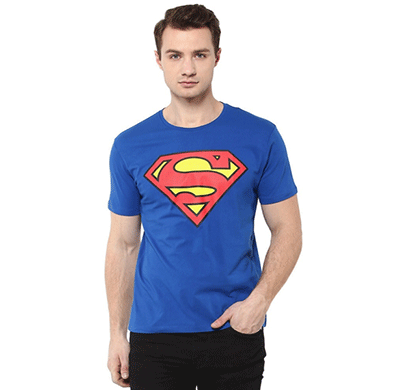 smartees blue color cotton half sleeve tshirt