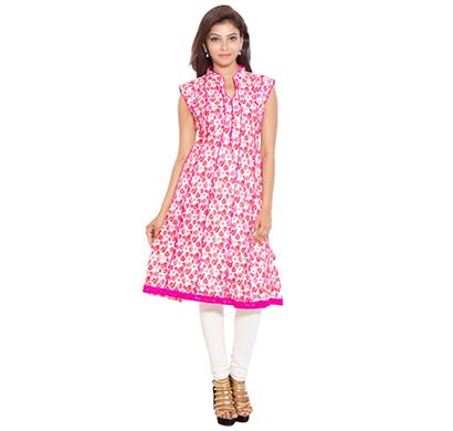 sml originals- sml_698, beautiful stylish 100% cotton kurti, l size, pink
