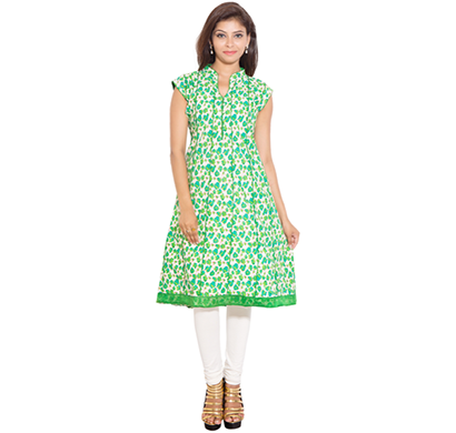 sml originals- sml_698, beautiful stylish 100% cotton kurti, s size, green