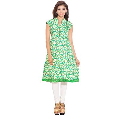 sml originals- sml_698, beautiful stylish 100% cotton kurti, xl size, green