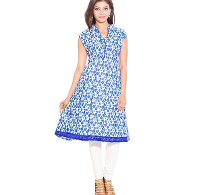 sml originals- sml_698, beautiful stylish 100% cotton kurti, m size, blue