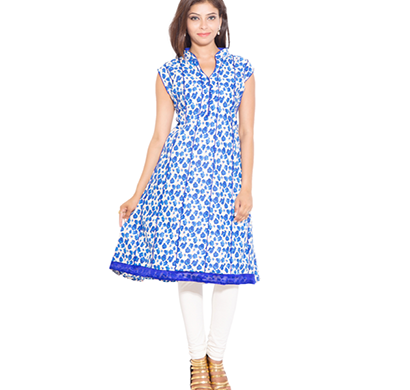 sml originals- sml_698, beautiful stylish 100% cotton kurti, l size, blue