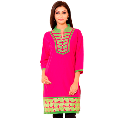 sml originals- sml_3004, beautiful stylish 100% cotton kurti,s size, pink