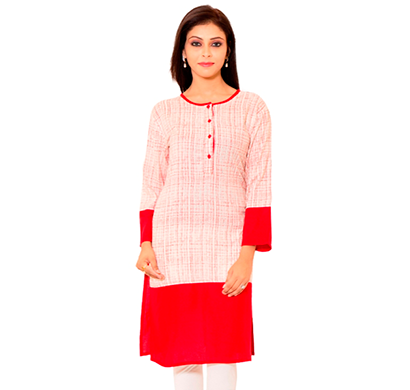 sml originals- sml_3005, beautiful stylish 100% cotton kurti, (red)