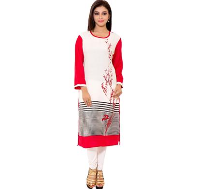 sml originals- sml_3006, beautiful stylish 100% cotton kurti, (red)