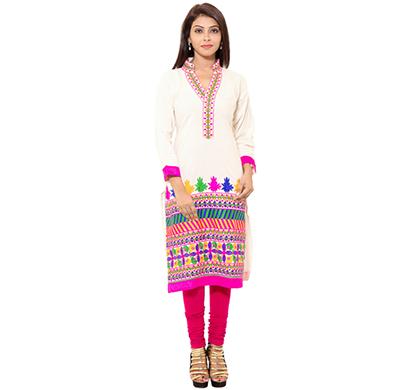 sml originals- sml_3017, beautiful stylish 100% cotton kurti, (pink)