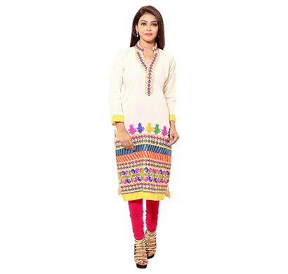 sml originals- sml_3017, beautiful stylish 100% cotton kurti, (yellow)