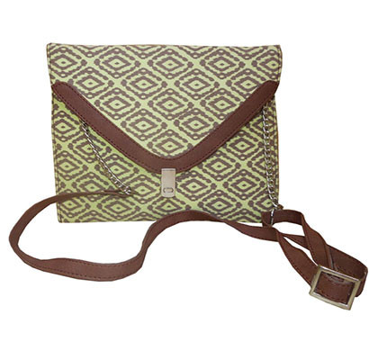 spice art cross-body handbags canvas cotton clutch green