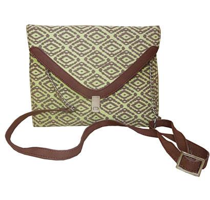 spice art cross-body handbags canvas cotton clutch green