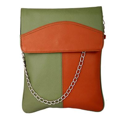 spice art green tan leatherite slingbag