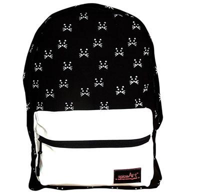 spice art unisex multipurpose canvas backpack black & white