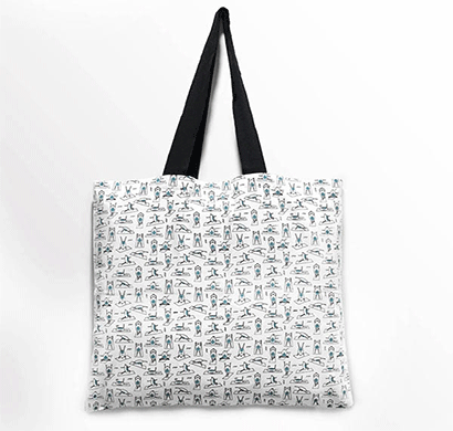 squares and squiggles tote bag