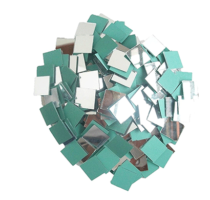 square shape mirror beads for art and craft and also used in embroidery (square shape 5 mm)
