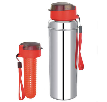steel fruit infuser bottle hydra fuze single wall 850 ml
