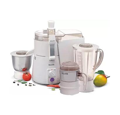 sujata powermatic plus with chutney jar watt- 900 w juicer mixer grinder (white, 3 jars)