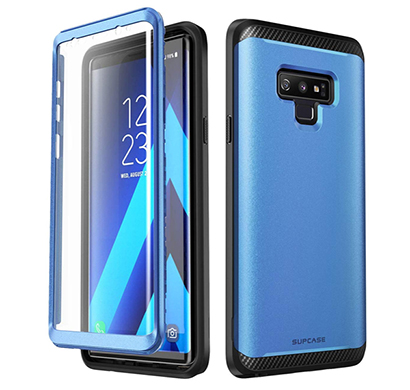 supcase (b07h331rlj) (ub neo series) case cover for galaxy note 9, full-body protective dual layer armor cover with built-in screen protector for galaxy note 9 (blue)