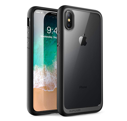 supcase (b074v3cm1c) (unicorn beetle style) case designed for iphone x, iphone xs, premium hybrid protective clear case for apple iphone x 2017/ iphone xs 2018 release (black)