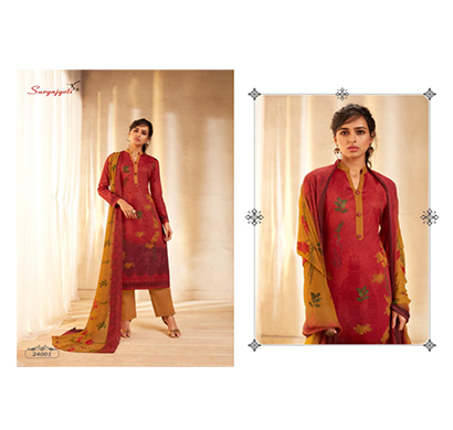 suryajyoti top & bottom satin cotton dupatta chiffon naishaa dress (multicolor)