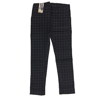 swikar men's checked cotton pants beige