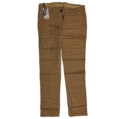 swikar men's checked cotton pants beige