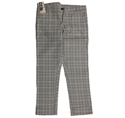 swikar men's checked cotton pants grey
