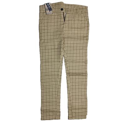 swikar men's checked cotton pant beige