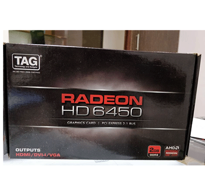 tag radeon hd 6450, 2 gb ddr3, amd graphics card