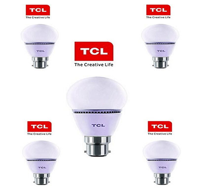tcl led bulb - 7w natural white (pack of 5 bulbs)
