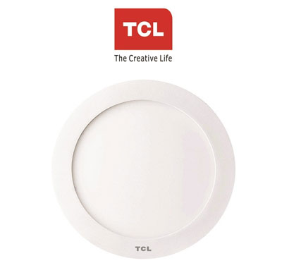 tcl led ultra slim flat panel light - 8w/6000k - round