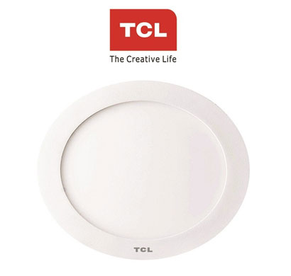tcl led ultra slim flat panel light - 8w/4000k - round