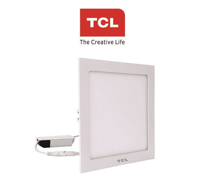 tcl led ultra slim flat panel light - 20w/6000k - square