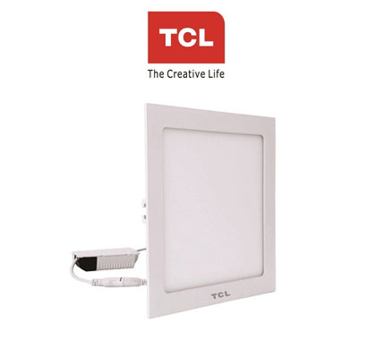 tcl led ultra slim flat panel light - 20w/4000k - square cool day light
