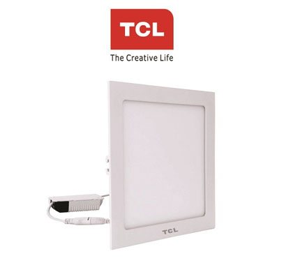 tcl led ultra slim flat panel light - 18w/4000k - square cool day light