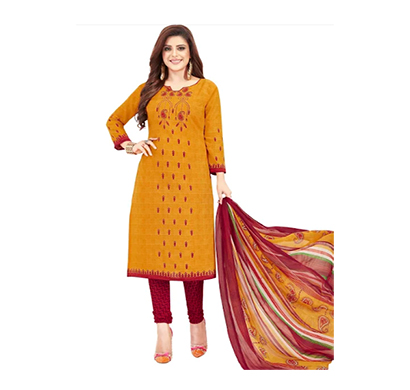 tendisha (2755) synthetic printed unstitched dress material (multi)