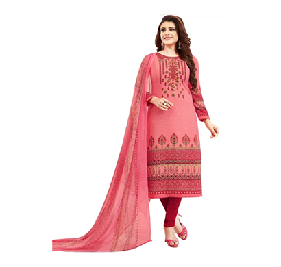 tendisha (2758) synthetic printed unstitched dress material (multi)