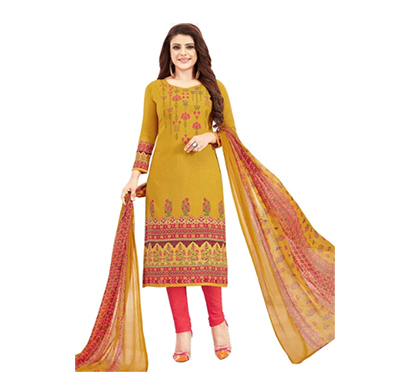 tendisha (2759) synthetic printed unstitched dress material (multi)