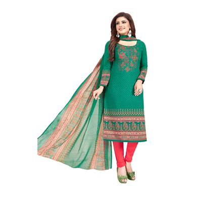 tendisha (2761) synthetic printed unstitched dress material (multi)