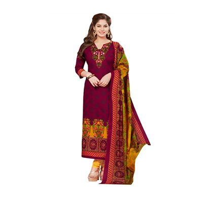 tendisha (2762) synthetic printed unstitched dress material (multi)